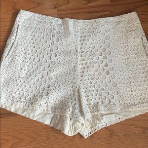 Ark & co cream patterned shorts